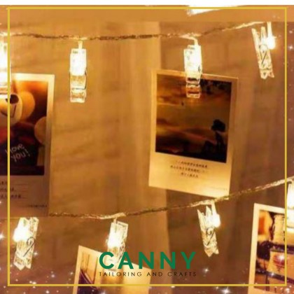 Battery Operated LED with Clip for Decoration / Klip Photo dengan Lampu LED Battery (1 set - 2 Meter)
