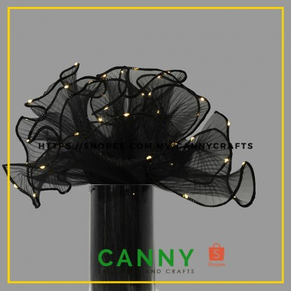 WAVE MESH FLOWER WRAPPING WITH LED (1PCS)
