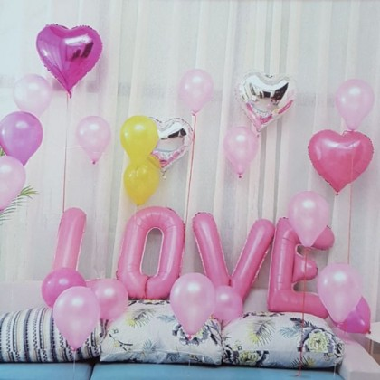 """1 Set HUGE 32"""" Love Word with Balloons Set"""